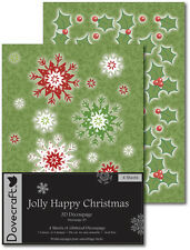 A4 Dovecraft Jolly Happy Natale Decoupage Carte