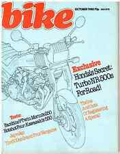 Bike October 1980 Harley XLH1000  Morini 250 2C Z550 BSA Laverda Honda Turbo
