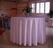 Tischdecke rund 3,20m Durchmesser Farbe BORDEAUX 320 cm, rundes Tischtuch