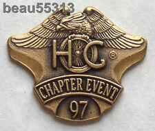 HARLEY DAVIDSON OWNERS GROUP CHAPTER EVENT 1997 HOG VEST JACKET HAT PIN