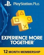 Playstation PLUS 12 Months Membership account PS4(No CARD)(NO CODE)read descript