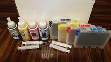 GEL SUBLIMATION INK REFILLABLE CARTRIDGES FOR RICOH 3110DN 7100DN GC41 cis ciss