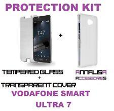 KIT COVER + PELLICOLA VETRO TEMPERATO VODAFONE SMART ULTRA 7 VDF700 CASE + GLASS