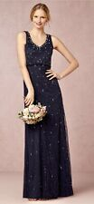 New BHLDN Adrianna Papell BROOKLYN Navy Blue Prom Bridesmaid Sz 10 MSRP $280