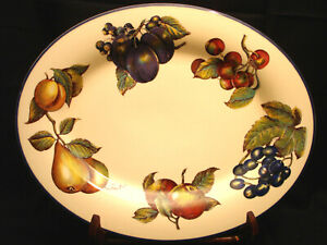 "Macintosh / Angleterre by Pier 1 OVAL SERVING PLATTER 14 3/8"" MADE IN ENGLAND"