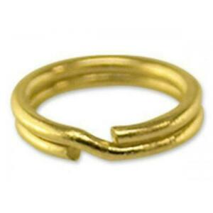 UK BRASS 20mm Split Ring Charm Links keyring Hook Loop easy to attch your charms