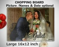 CUSTOM Wedding photo CHOPPING BOARD Cutting Personalised Aniversary Gift Present
