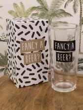 Beer pint glass men mans drinking alcohol drink gift novelty present