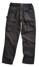 Blackrock Workman Mens Cargo Combat Work Wear Trousers Pants **WITH KNEE PADS**