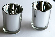 50 silver glass anniversary wedding decoration tealight candle bling holder
