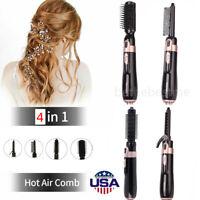 Hair Dryer Brush Volumizer Blow Straightener Curler Salon Electric Air Iron Comb