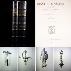 🌓 EO EUGÈNE PLON Benvenuto Cellini orfèvre médailleur sculpteur ex artiste 1883