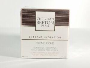 Christian BRETON Super Hydrating Rich Cream For Dry & Very Dry Skin 50ml RRP £64