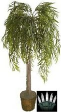 Artificial 6' Willow Tree Plant Bush Basket Topiary Lights Arrangement Christmas
