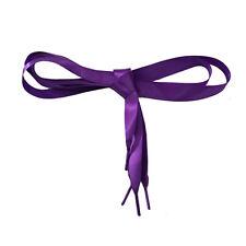 Candy Color Flat Silk Ribbon Shoelaces Shoe Laces Sneaker Party Sport Strings zg