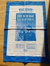 WAAF Reunion Tea Towel Selsey On Sea 1987 Collectable