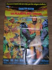 """AFFICHE DU FILM """"LA PLANETE DES SINGES"""" / CHARLTON HESTON / 60 x 80 CMS / TTBE"""