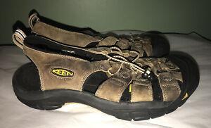Keen Newport Bison Brown Leather Waterproof Sport Sandals Men's 9.5 Excellent
