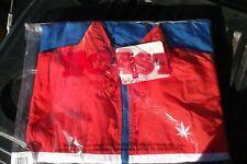 1 Nwt Boast Usa Men's Medium Jacket Orange/White/Blue Pull Over