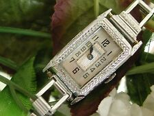1932 Art Deco Ladies Bulova Watch~Deco Style Band ~ Bulova Case ~ Runs