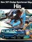 1971 Dodge Sportsman Van 12-page Original HIS HERS Sales Brochure Catalog