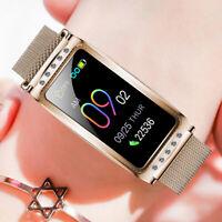 Waterproof Women Smart Watch Fitness Tracker Heart Rate Blood Pressure Monitor