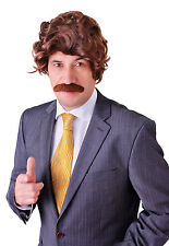 Anchorman Wig & Tash 60's 70's Ron Fancy Dress Costume Accessory
