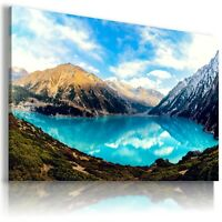MOUNTAINS PARADISE PERFECT View Canvas Wall Art Picture Large SIZES  L186  X