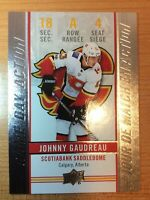 UD TIM HORTONS 2018-2019 JOHNNY GAUDREAU GAME DAY ACTION HOCKEY CARD GDA-4