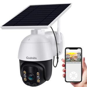 Camara De Seguridad Solar WIFI Inalambrica 360° Para Exterior HD 1080P Con Audio
