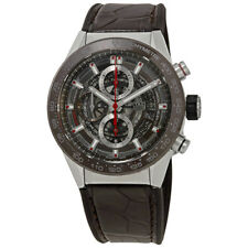 Tag Heuer Carrera Brown Skeleton Dial Automatic Mens Chronograph Watch