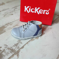 P20 - Chaussures garçon KICKERS NEUVES - Modèle Tropic Gris Bleu - (75.00€)