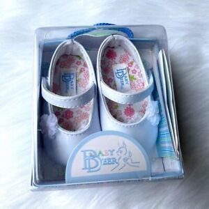 Baby Deer White Patent Mary Jane Crib Shoes New In Box Infant Girls Sz 2 Easter