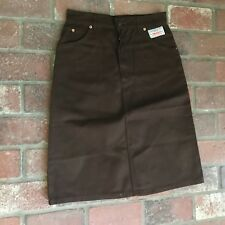 Levis Vintage Women's Size 12 Brown Denim Skirt New Old Stock