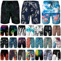 Men's Beach Board Shorts Quick-Dry Surfing Shorts Sports Swim Trunks Swimwear V9