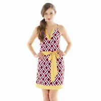 NEW GAMEDAY DRESS Racer Back Sundress MEDIUM 8-10 Burgandy/Gold by Mud Pie