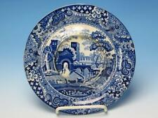 Clews Staffordshire Stone China - Blue and White Undertray for a Sauce Tureen