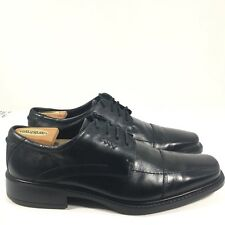 Ecco Bicycle Toe Black Leather Men's Oxford Shoes Lace Up Size Us 11-11.5 Eu 45