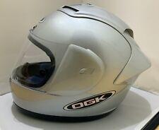 OGK full face motorcycle helmet Large, bag & 3 visor tear-offs Pristine