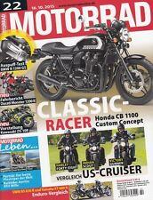 M1522 + DUCATI Monster 1200 R + Schalldämpfer BMW R 1200 GS + MOTORRAD 22/2015