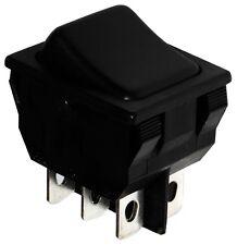 Interruptor conmutador basculantes de botón DPDT ON-ON 10A/250V, Negro