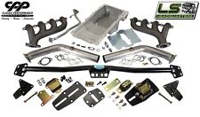 1964-67 CHEVY CHEVELLE LS ENGINE CONVERSION KIT ADJUSTABLE MOUNTS HOLLEY OIL PAN