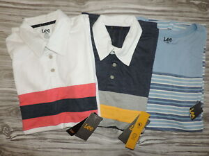 LOT OF 3 NWT Lee Men's Large L Shirts Polos