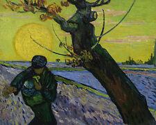 The Sower Vincent Van Gogh campo di contadini semina SOLE SEMI ALBERO Acker B a3 03362