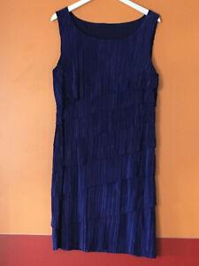 Cocktail-Kleid im Stil der 20er Jahre Größe XL in leuchtendem Blau