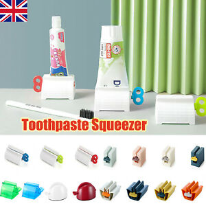 Hot Rolling Tube Toothpaste Squeezer Toothpaste Easy Dispenser Seat Holder Stand