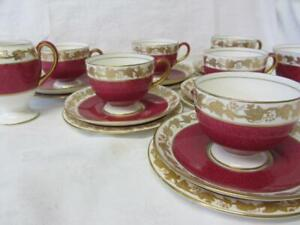 Twenty (20) Piece Wedgwood Whitehall Ruby Tea Set W3994