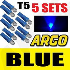 5x Sets T5 286 Led Ultra Azul Pantalla Bombillas Xenon 12v luz Indicadores