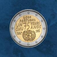 Portugal - 75 Jahre UN / UNO - 2 Euro 2020 unc. Vereinte Nationen - Sofort!