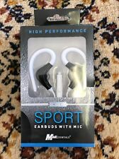 High Performance Sport Earbuds With Mic Mobil Essentials New